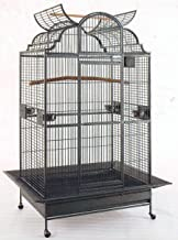 New Large Elegant Wrought Iron Dome Play Top Bird Parrot Cage, Include Metal Seed Guard Solid Metal Feeder Nest Doors