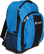 Everest Luggage Backpack with Front and Side Pockets, Royal Blue/Black, Large