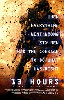 13 Hours: The Secret Soldiers of Benghazi - Movie Poster (2016), Size 24 x 36