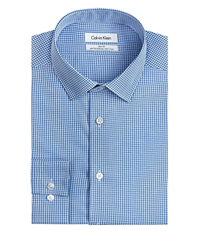 Calvin Klein Dress Shirt Slim Fit Non Iron Gingham