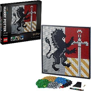 LEGO 31201 Art Harry Potter Hogwartssköldar Byggklossar, Harry Potter poster, Heminredning, Väggdekoration