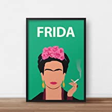 Frida Kahlo Poster // Minimalist Print - Artwork - Inspirational - Feminist - Frida