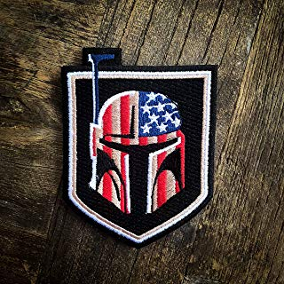 Boba Fett Bounty Hunter US Flag Star Wars 100% Embroidered Morale Patch – Hook Backed by NEO Tactical