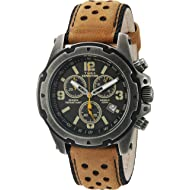 e437b9bb8bca Timex Men s Expedition Sierra Tachymeter Shock-Resistant Leather Strap  TW4B01500