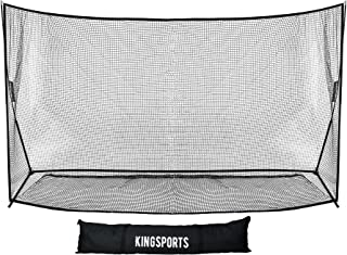 KingSports Large Golf Practice Training Net - Portable Golf Net for Indoor and Outdoor Use - 10 x 7 ft