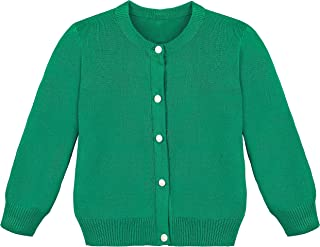 Lilax Little Girls' Knit Uniform Cardigan Long Sleeve Sweater