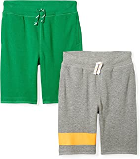 Amazon Brand - Spotted Zebra Boy's 2-Pack French Terry Knit Shorts