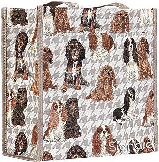 Signare Womens Fashion Tapestry Shopper Bag Shoulder Bag in Cavalier King Charles Spaniel Dog