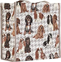 Signare Womens Fashion Tapestry Shopper Bag Shoulder Bag in Cavalier King Charles Spaniel Dog