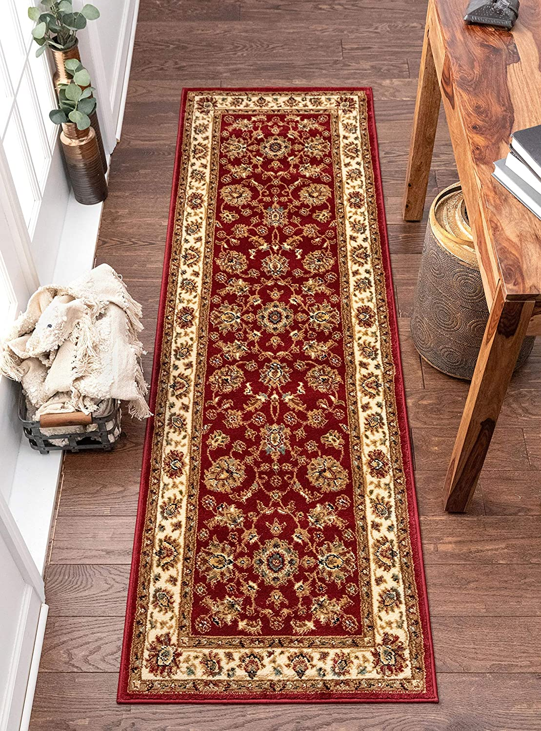Well Woven Persian Oriental Runner Rug Max 55% OFF 2x8 Red 7'3