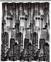 AmazonBasics - Cortina de ducha de PEVA de peso medio, paisaje urbano, 183 x 183 cm