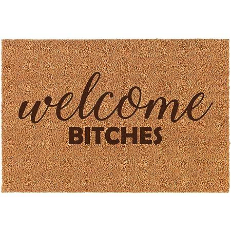 Daylor Coir Door Mat Doormat Funny Welcome Btches