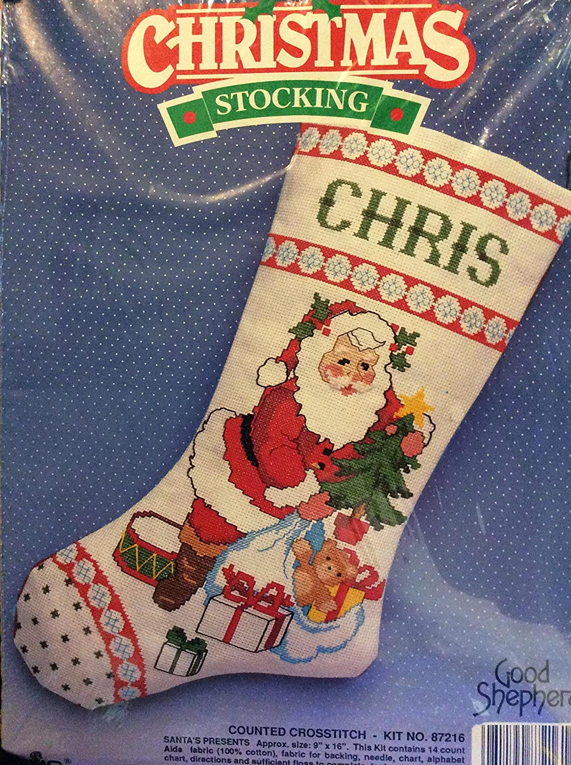 Christmas Stocking Counted Cross Stitch Kit Santa's Presents