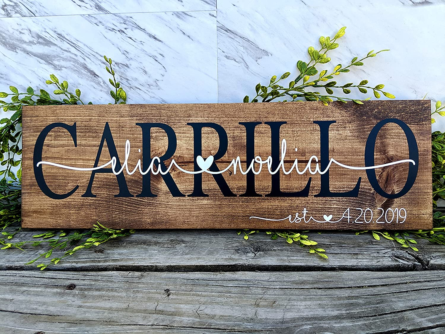 Personalized Last Name Signs For Gifts Home. Albuquerque Mall Max 72% OFF Wedding Custom