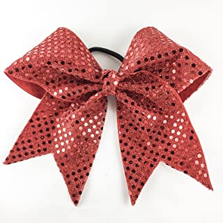 Arrow and Bowss Red Cheerleading Bow - Competition Grade Hair Bow 3 Inch Ribbon