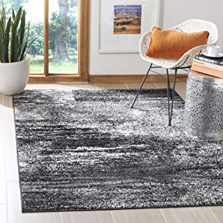 Safavieh Adirondack Collection ADR112A Silver and Black Modern Abstract Area Rug (4' x 6')