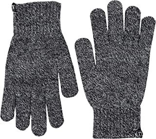 Black Marl Embroidered Winter Gloves, 3-Pack