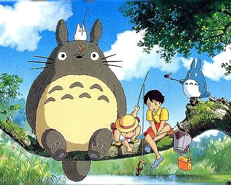 Amazon.com: Totoro My Neighbor Totoro Poster Anime Japan Hayao Miyazaki  Cute Movie Animation Art 16x20 Inches: Posters & Prints