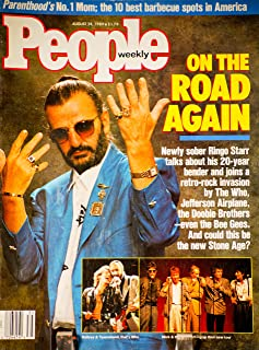 People Weekly (RINGO STARR...ON THE ROAD AGAIN , Daltrey & Townshend , Mick Jagger & The Boys , The Who , Jefferson Airplane, August 28 , 1989)