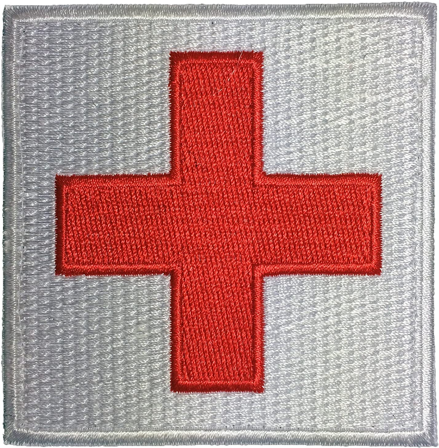 Tactical Medic Red Cross Patch Hook and Loop Fasteners Backing 3