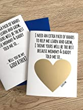 Will You Be My Godfather Scratch Off in Child Handwriting