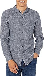 Men's Slim-Fit Long-Sleeve Plaid Brushed Heather Shirt