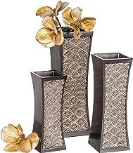 Dublin Decorative Vase Set of 3 in Gift Box, Durable Resin Flower Vase Set Decor, Rustic..