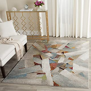 Safavieh Porcello Collection PRL6937B Modern Abstract Art Grey and Multi Area Rug (4' x 6')