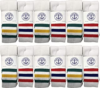 Yacht & Smith Wholesale Women's Tube Socks,  Women's Cotton Referee Sport Socks Size 9-11