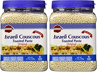 Baron's Kosher Israeli Couscous Toasted Pasta 21.16-ounce Jar - Pack of 2 - (Israeli Couscous)