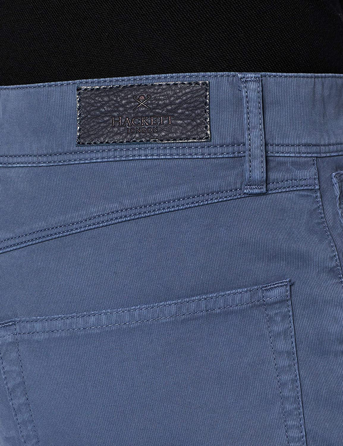 Hackett 5 Pocket Texture Jean Droit Homme Silverfish