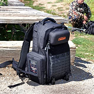 Scent Crusher Pro Series Hunter's Pack with Ozone Generator – Destroys Odors within 30 mins., Lockable YKK Zippers, Ergonomic Padded Air-Mesh Back Panel, Airport/TSA Compliant