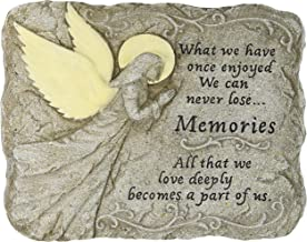 Carson Home Accents Peaceful Reflections Garden Stone, Memories, Glow in The Dark, 9-Inch High