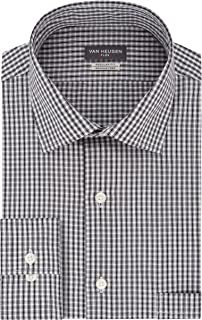 Men's Dress Shirt Regular Fit Flex Collar Check