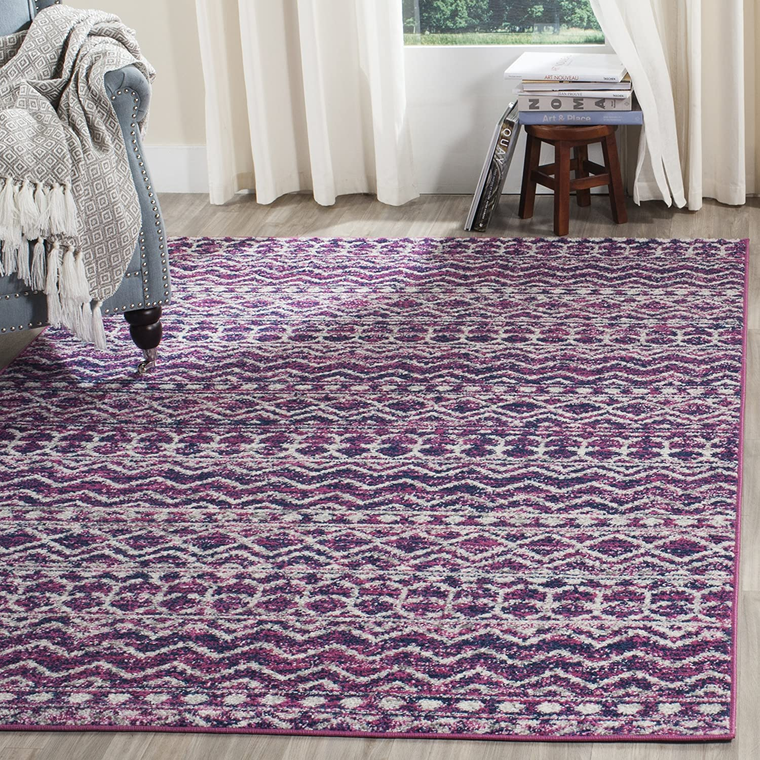 Safavieh Madison Collection MAD606M Fashion Non-Shedding Chic Boho Super sale period limited Stain