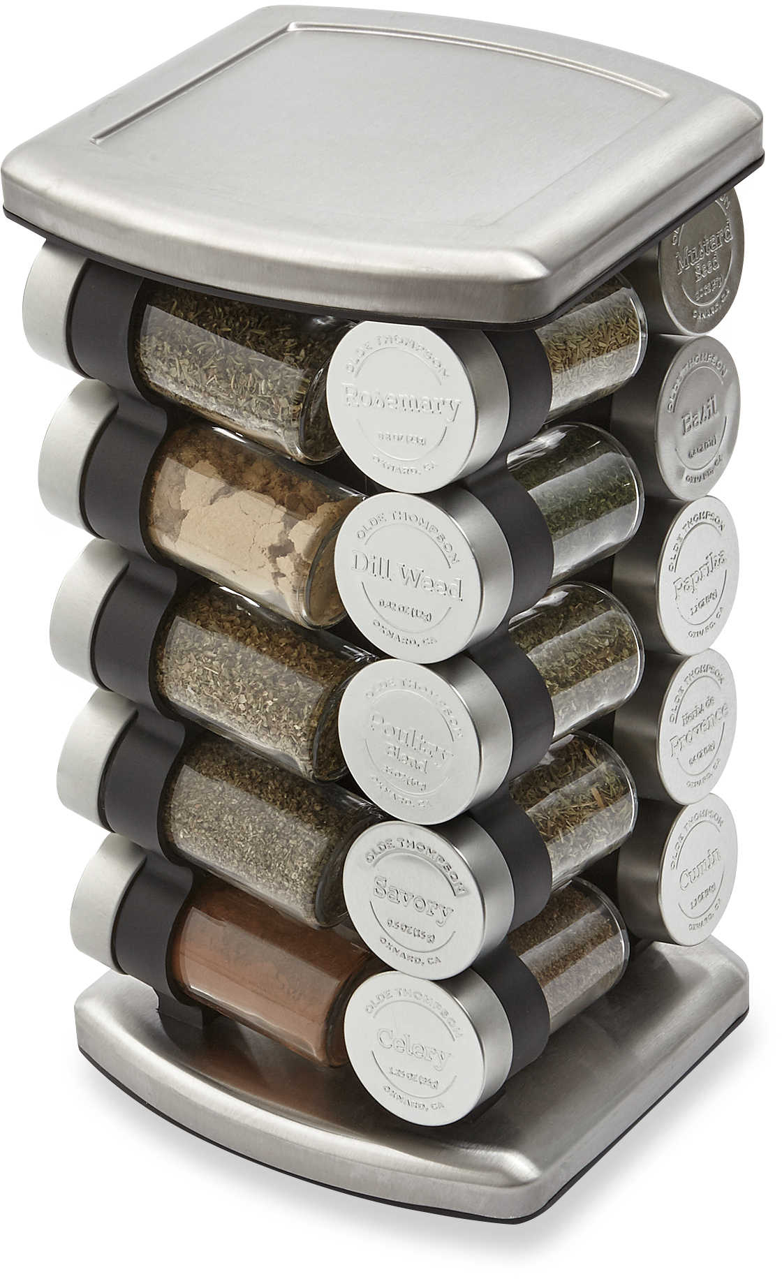 Olde Thompson 20 Jar Embossed Revolving Spice Rack - Bed Bath & Beyond