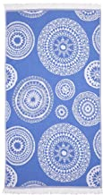 Linum Home Textiles Zarya Pestemal Beach Towel, Royal Blue