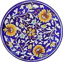 Aditya Blue Art Pottery Ceramic Ceramic Decorative Wall (Multi-Color, 20 cm x 20 cm x 3 cm)