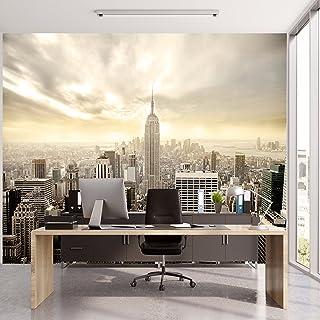 murimage Papel Pintado New York 366 x 254 cm Incluyendo Pegamento Fotomurales Manhattan Skyline Vista 3D Ciudad Paisaje Ur...