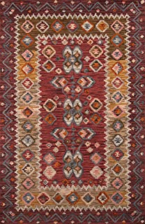 Momeni Rugs Tangier Collection, 100% Wool Hand Tufted Tip Sheared Transitional Area Rug, 2' x 3', Red