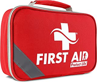 2-in-1 First Aid Kit (250 Piece) Bonus Mini 1st Aid Kit - Emergency Supplies for Home, Travel, Outdoors, Car, Camping, Workplace, Hiking & Survival