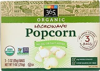 365 Everyday Value, Organic Microwave Popcorn, 3 oz, 3 pk