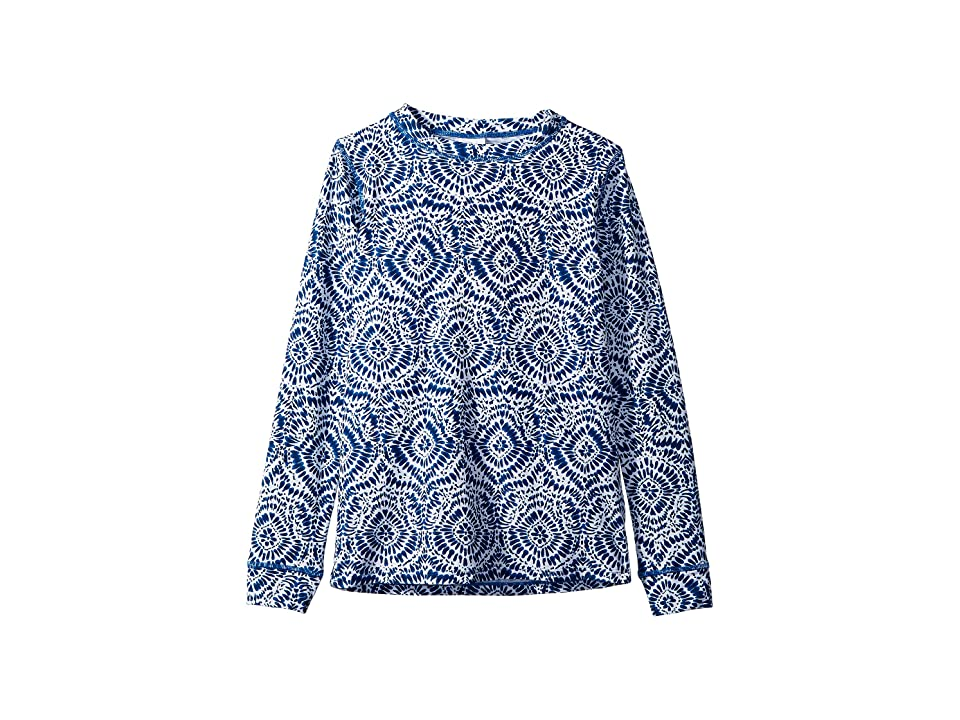 shade critters Tie-Dive Long Sleeve Rashguard (Toddler/Little Kids/Big Kids) (Blue) Girl