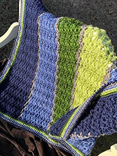 Avocado and Ocean Lapghan Crocheted Afghan