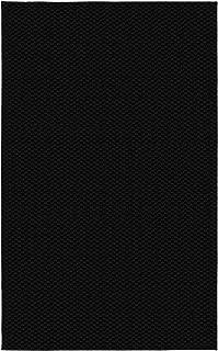 Garland Rug Medallion Black Area Rug, 6-Feet by 9-Feet, Black