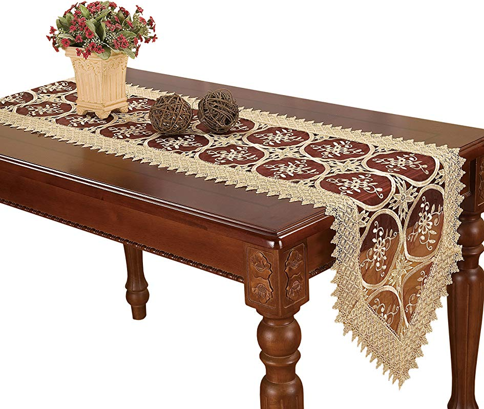 Simhomsen Burgundy Lace Table Runners And Dresser Scarves 16 By 72 Inch