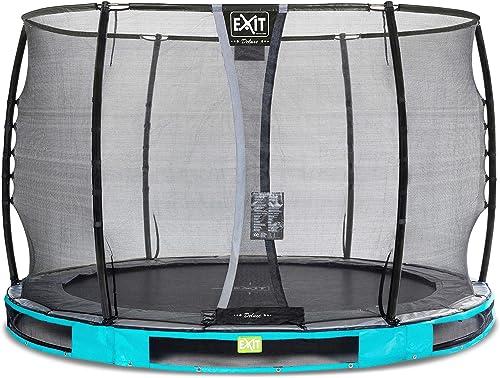 EXIT Elegant Premium InGründ-Trampolin  cm mit Deluxe Sicherheitsnetz - blau
