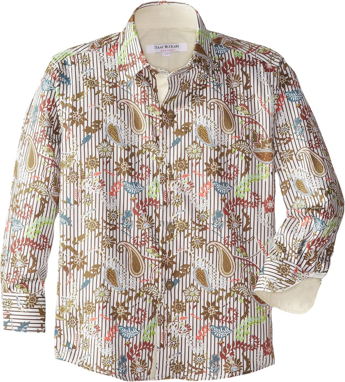 Isaac Mizrahi Little Boys' Botanical Stripe Shirt