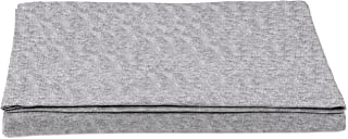 comprar comparacion AmazonBasics - Sábana encimera, tejido jersey jaspeado, 240 x 320 + 10 cm - Gris