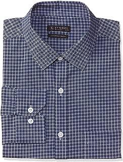 Amazon Brand - Symbol Men's Checkered Regular Fit Full Sleeve Formal Shirt (SS20-SYMFS-01_YK073_Blue_42)